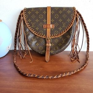 Louis Vuitton Upcycled Suede Fringe Crossbody Bag